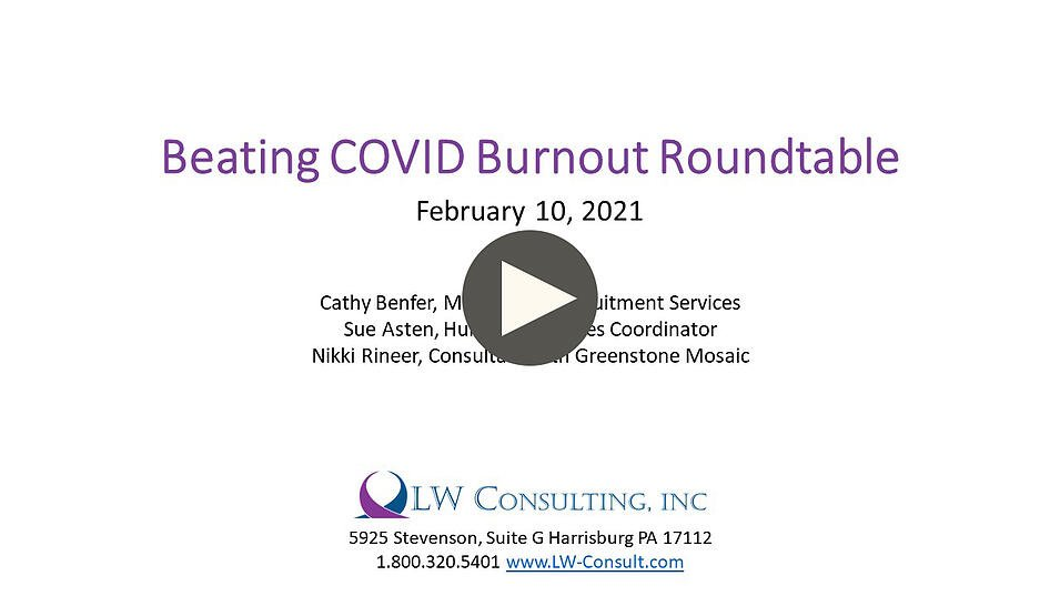 COVID Burnout Title with button