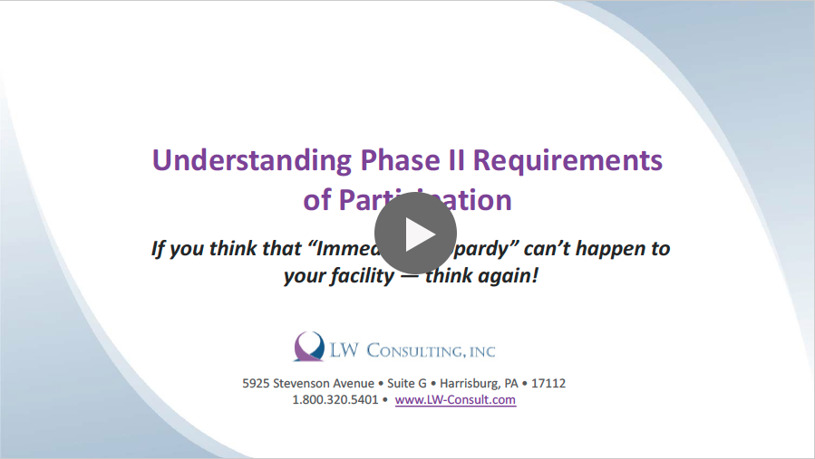 Understanding Phase II Requirements of Participation