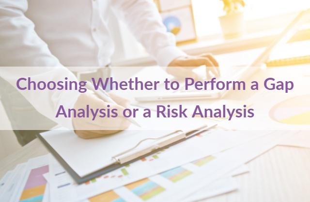 Gap Analysis Risk Analysis