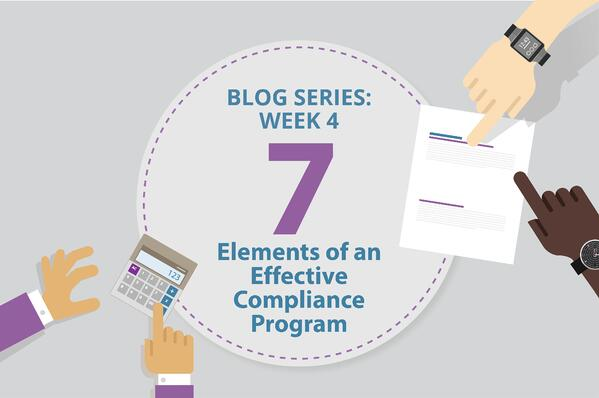 Blog Series: Wee4 7 Elements of an Effective Compliance Program