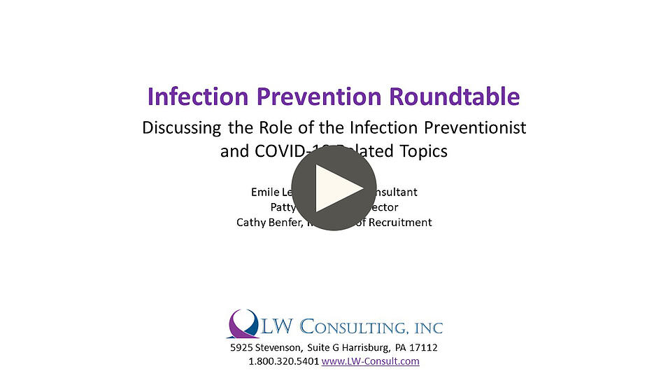 Infection Prevention Roundtable with button